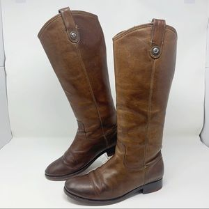 Frye Melissa Brown Riding Boots 7B